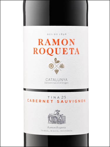 фото Ramon Roqueta Cabernet Sauvignon Catalunya DO Рамон Рокета Каберне Совиньон Каталония Испания вино красное