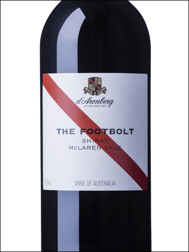 фото вино d'Arenberg The Footbolt Shiraz McLaren Vale