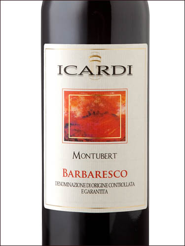фото Icardi Montubert Barbaresco DOCG Икарди Монтуберт Барбареско ДОКГ Италия вино красное