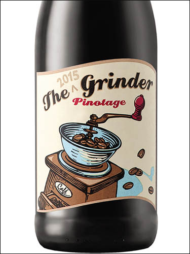 фото The Grinder Pinotage Western Cape WO Зе Гриндер Пинотаж Вестерн Кейп ВО ЮАР вино красное