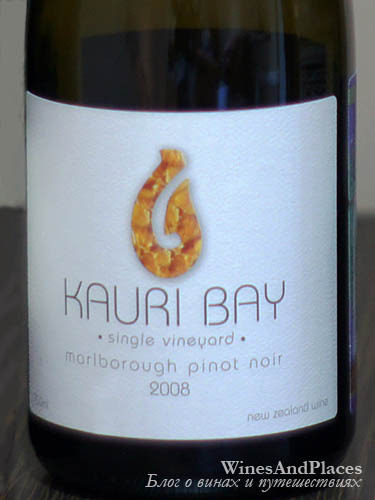 фото Kauri Bay Pinot Noir Marlborough Каури Бей Пино Нуар Мальборо Новая Зеландия вино красное