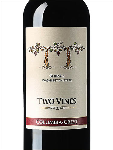 фото Two Vines Shiraz Washington State Ту Вайнз Шираз штат Вашингтон США вино красное