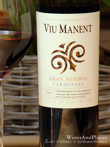 фото Viu Manent Carmenere Gran Reserva DO Colchagua Valley Вью Манент Гран Резерва Карменер Долина Кольчагуа Чили вино красное