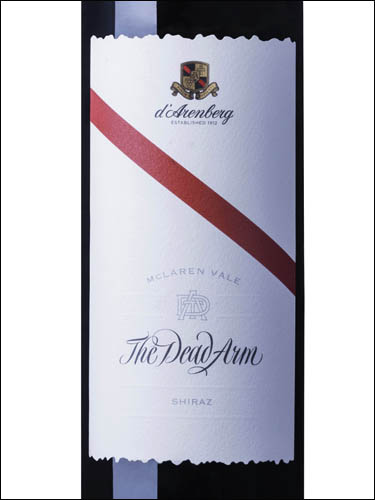 фото d'Arenberg The Dead Arm Shiraz McLaren Vale д'Аренберг Дэд Арм Шираз Макларен Вэйл Австралия вино красное
