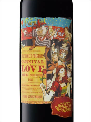 фото Mollydooker Carnival of love Shiraz Моллидукер Карнивал оф Лав Шираз Австралия вино красное
