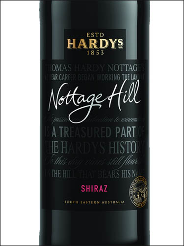 фото Hardys Nottage Hill Shiraz Хардис Ноттидж Хилл Шираз Австралия вино красное
