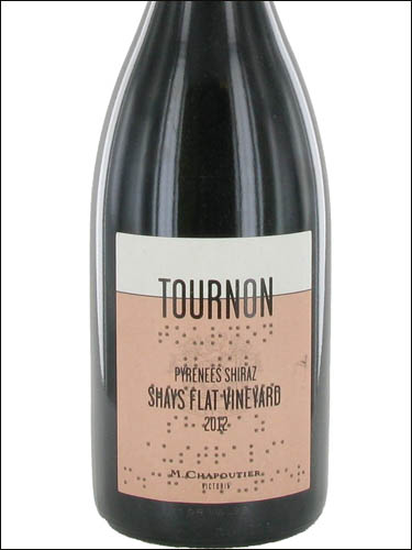 фото Domaine Tournon Shays Flat Vineyard Pyrenees Victoria Shiraz Домен Турнон Шэйз Флэт Виньярд Пиренэ Виктория Шираз Австралия вино красное