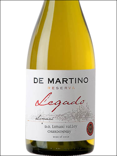 фото De Martino Legado Reserva Chardonnay Limarí Valley DO Де Мартино Легадо Шардоне Резерва Долина Лимари Чили вино белое
