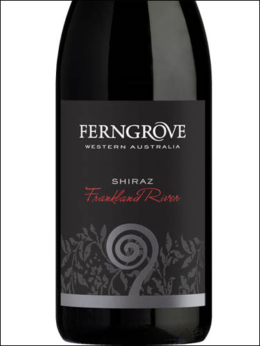 фото Ferngrove Black Label Shiraz Frankland River Фернгров Блэк Лейбл Шираз Франкленд Ривер Австралия вино красное