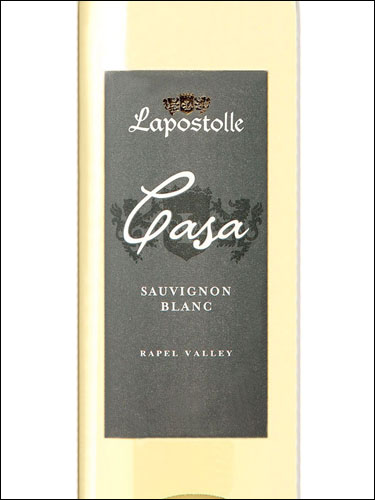 фото Lapostolle Casa Sauvignon Blanc Rapel Valley DO Ляпостоль Каза Совиньон Блан Долина Рапель Чили вино белое