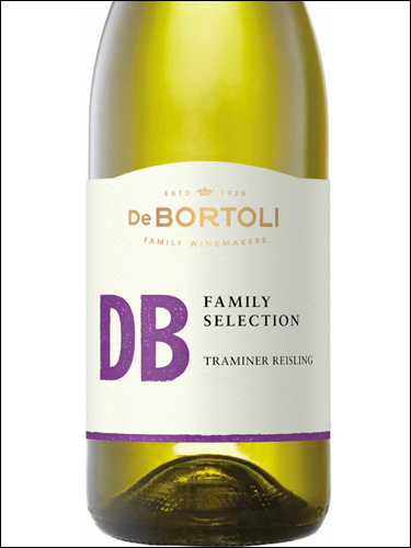 фото De Bortoli DB Family Selection Traminer Riesling Де Бортоли ДиБи Фэмили Селекшн Траминер Рислинг Австралия вино белое