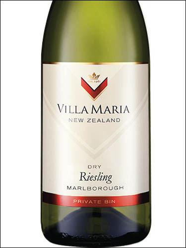 фото Villa Maria Private Bin Riesling Marlborough Вилла Мария Прайват Бин Рислинг Мальборо Новая Зеландия вино белое