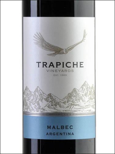 фото Trapiche Vineyards Malbec Mendoza Трапиче Виньярдс Мальбек Мендоса Аргентина вино красное