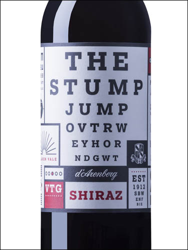 фото d'Arenberg The Stump Jump Shiraz д'Аренберг Стамп Джамп Шираз Австралия вино красное