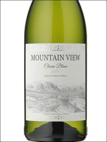фото Mountain View Chenin Blanc Western Cape WO Маунтин Вью Шенен Блан Вестерн Кейп ЮАР вино белое