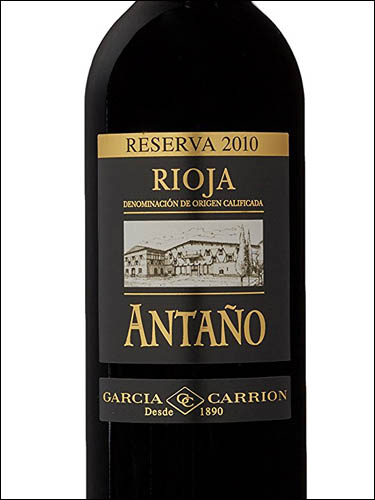 фото вино Garcia Carrion Antano Reserva Rioja DOC