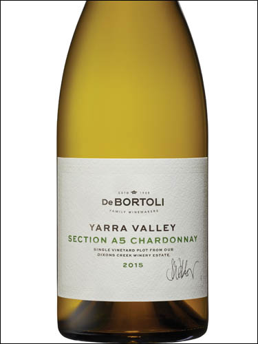 фото De Bortoli Section A5 Chardonnay Yarra Valley Де Бортоли Секшен А5 Шардоне Долина Ярра Австралия вино белое