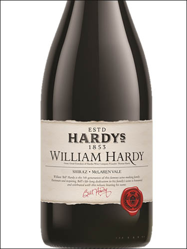 фото Hardys William Hardy Shiraz Хардис Уильям Харди Шираз Австралия вино красное