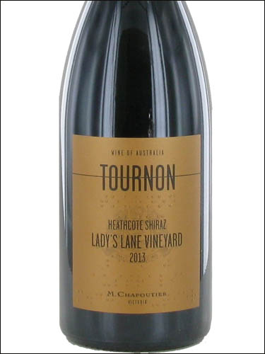 фото Domaine Tournon Lady's Lane Vineyard Heathcote Shiraz Домен Турнон Лэдиз Лейн Виньярд Хитккот Виктория Шираз Австралия вино красное