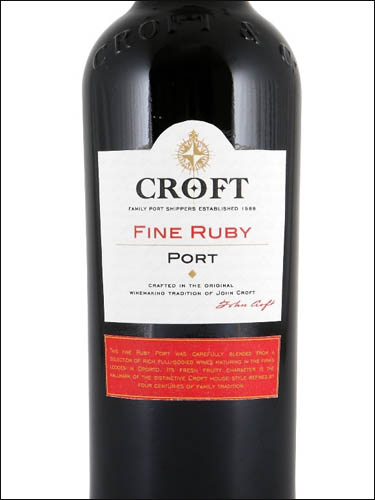 фото Croft Fine Ruby Port Крофт Файн Руби Порт Португалия вино красное