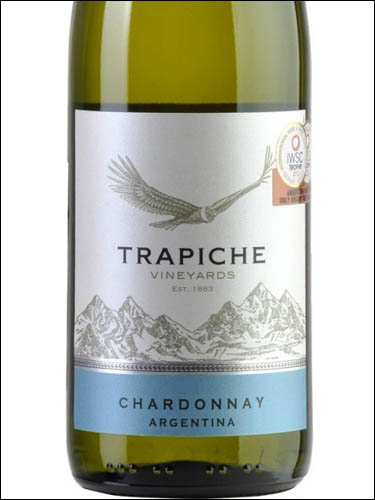 фото Trapiche Vineyards Chardonnay Mendoza Трапиче Виньярдс Шардоне Мендоса Аргентина вино белое