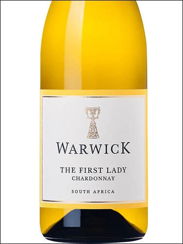 фото Warwick The First Lady Unoaked Chardonnay Ворвик Зе Фест Леди Аноукед Шардоне  ЮАР вино белое