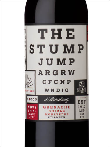 фото d'Arenberg The Stump Jump Grenache Shiraz Mourvedre д'Аренберг Стамп Джамп Гренаш Шираз Мурведр Австралия вино красное