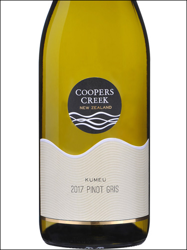 фото Coopers Creek Kumeu Pinot Gris Куперс Крик Кумеу Пино Гри Новая Зеландия вино белое