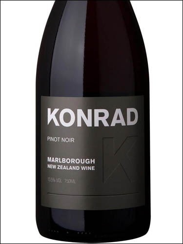 фото Konrad Pinot Noir Marlborough Конрад Пино Нуар Мальборо Новая Зеландия вино красное